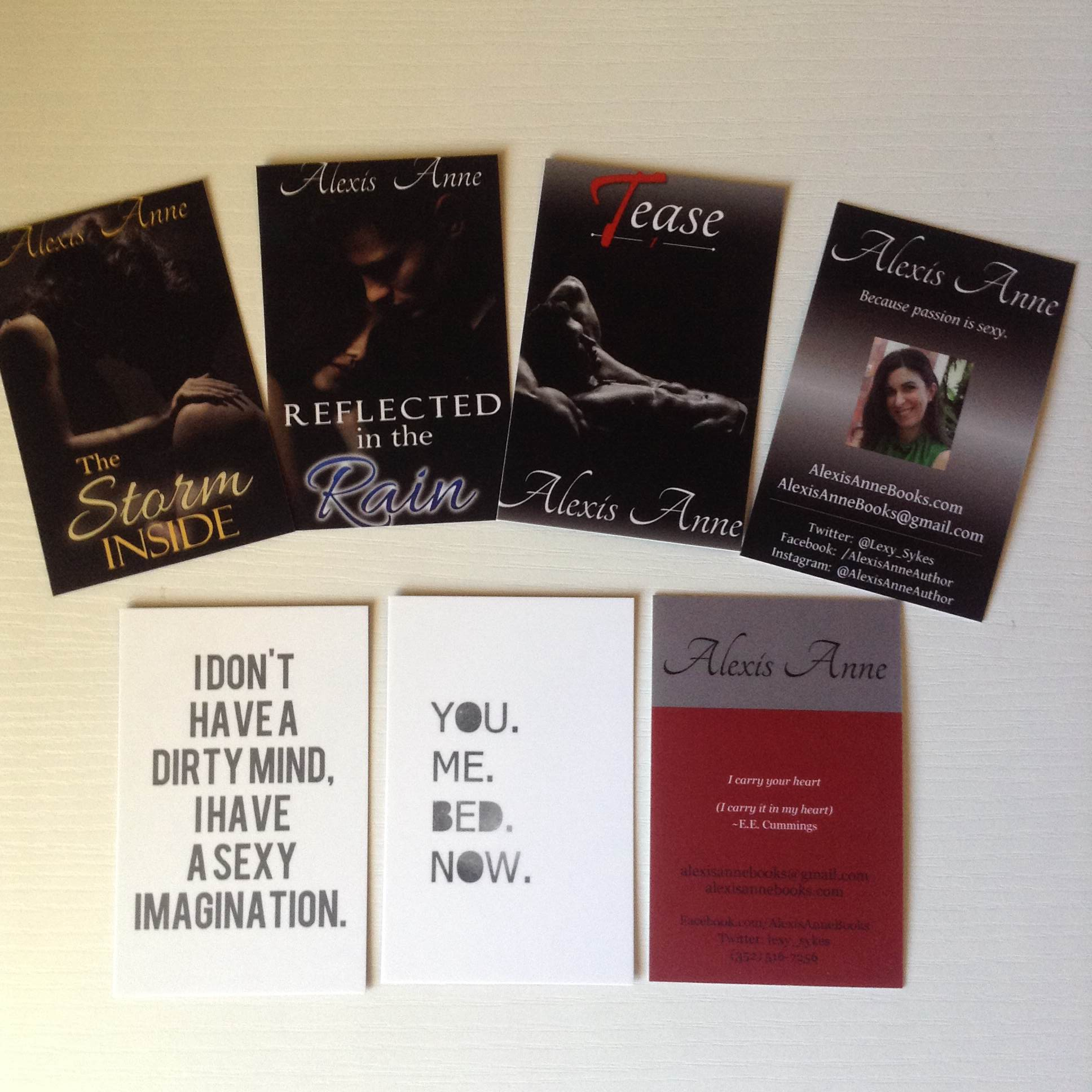 Wonderful Wednesday: Swag and Business Cards | Alexis Anne Books